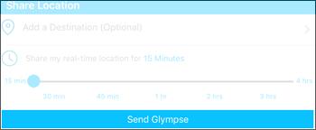 Tap Send Glympse