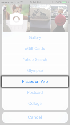 Tap Places on Yelp