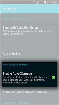 Enable Auto Glympse