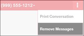 Click Remove Messages