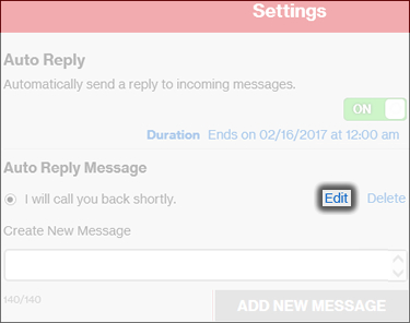 Edit an Existing Message