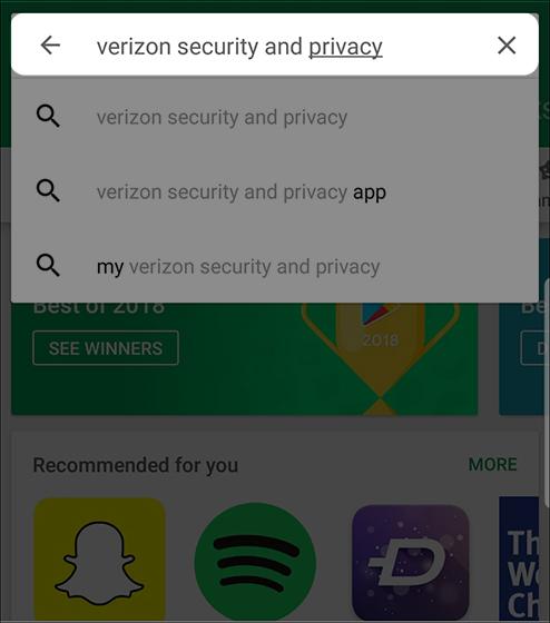 Ingresa Verizon Support & Privacy