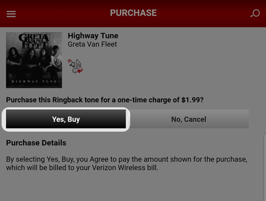 Purchase ringtones or ringback tones verizon tones android.