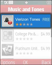 Select Verizon Tones