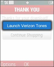 Select Launch Verizon Tones
