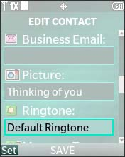 Assign a Ringtone to a Contact - Verizon Tones (V CAST Tones ...