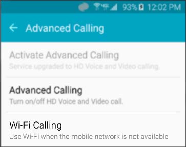 Wi-Fi Calling Enabled