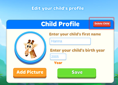 Delete Child icon