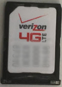 Place SIM card in tray