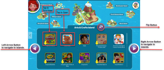 kids world main screen