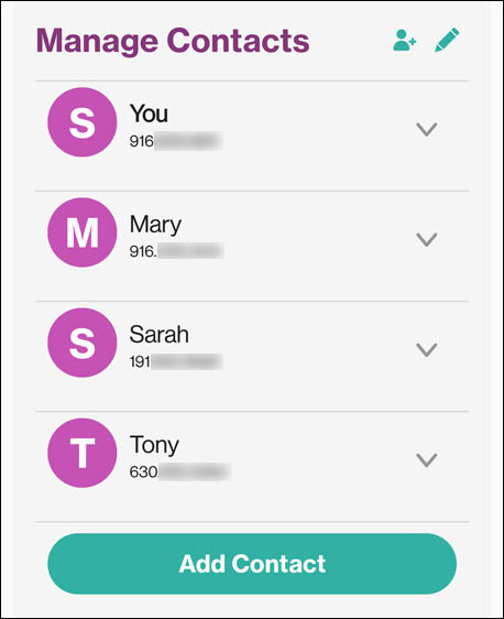 Edit Contact page
