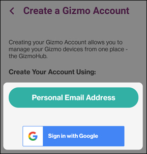 create a gizmo account