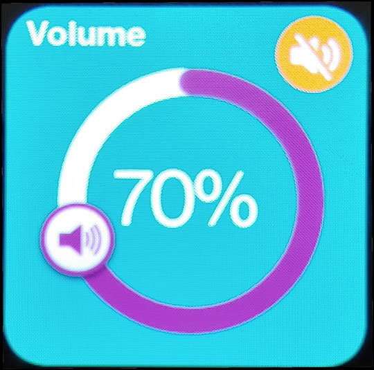Adjust Volume slider