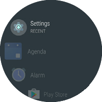 Apps screen with Settings