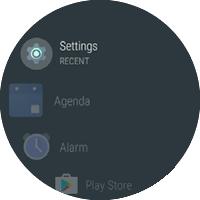 Pantalla Apps con Settings