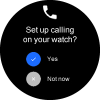 Set up calling screen with options