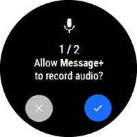 Message+ record audio permission