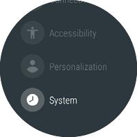 Settings y opción System