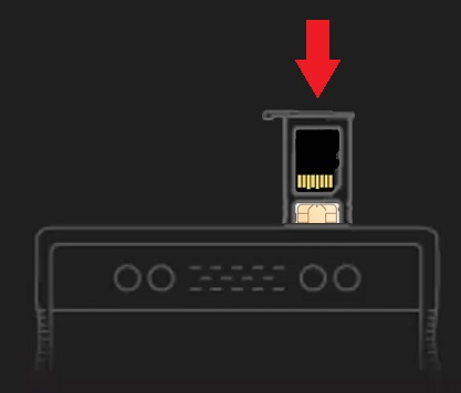 Insert SD/SIM tray