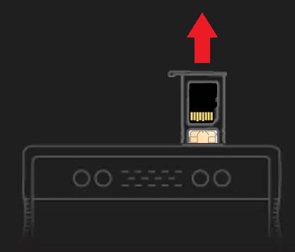 Remove SD/SIM tray