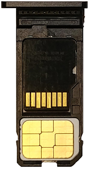 SD/SIM card tray
