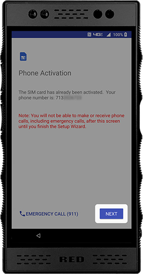 Phone activation