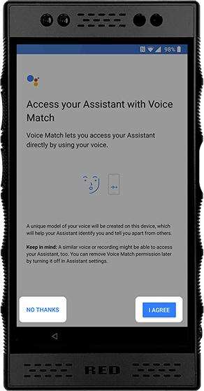 Set up Voice Match