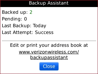 Backup Assistant with Close