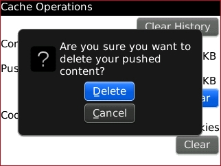 Delete confirmation prompt