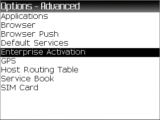 Advanced Options with Enterprise Activations