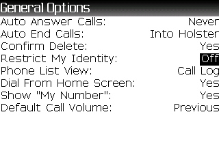 Enabling Caller ID restrictions step 4