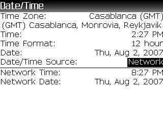 Set network time