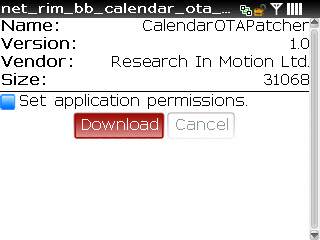 Download and apply calendar patch step 7