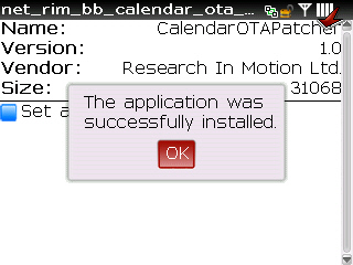 Download and apply calendar patch step 8