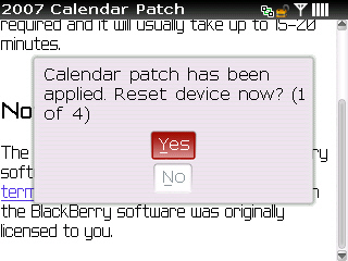Download and apply calendar patch step 9