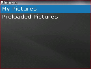 Select the desired picture folder