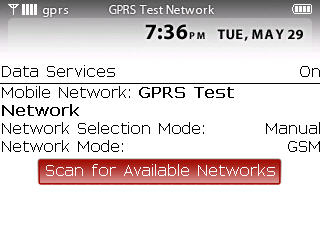Scanning available networks step 8