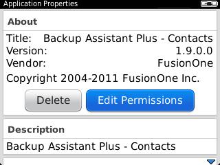 Application Properties con Edit Permissions