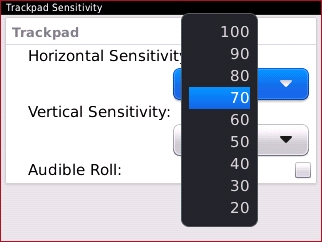Configuración Horizontal Sensitivity