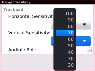Configuración Vertical Sensitivity