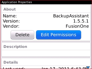 Application Properties with Edit Permissions