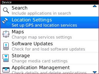Device with Location Settings