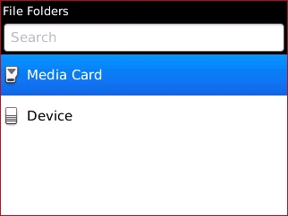 File Folders with Media Card