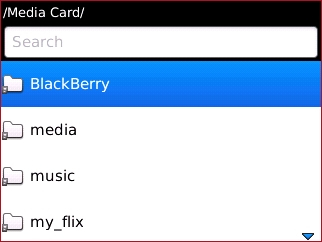 Media Card con BlackBerry