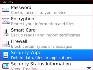 Security with Security Wipe
