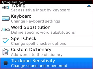 Typing and Input with Trackpad Sensitivity