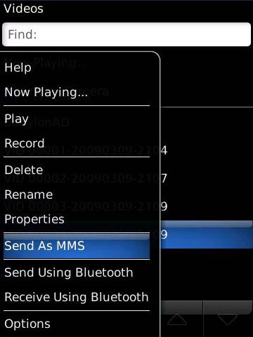 Selecciona Send As MMS