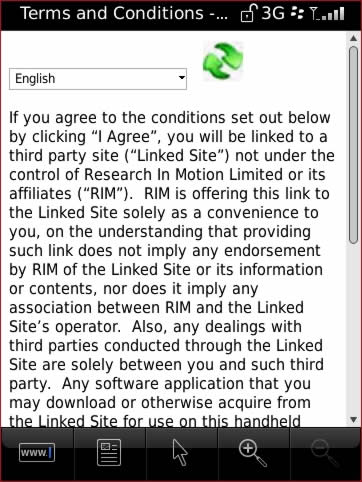 User Agreement with desired language