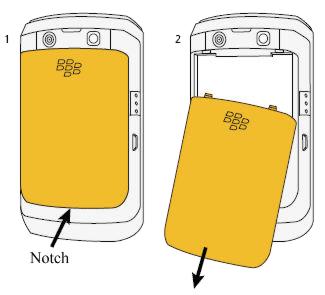 Quitar la cubierta de la batería