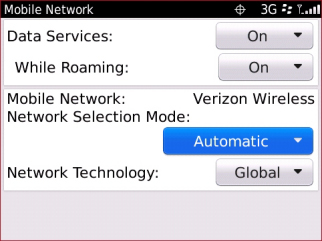 Campo Network Selection mode